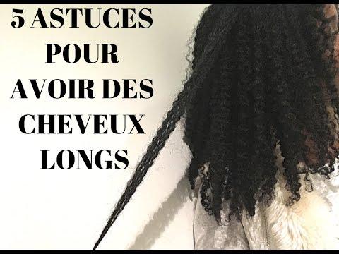5 ASTUCES pour avoir de LONGS cheveux crépus/bouclés/frisés