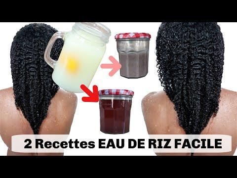2 SOINS PROTEINÉS EAU De RIZ  Pour la Pousse Des Cheveux FAIT MAISON + NOUVELLE RECETTE EAU DE RIZ