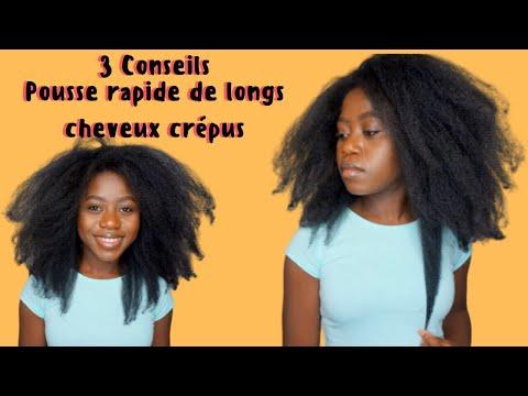 3 CONSEILS // POUSSE RAPIDE DE LONGS CHEVEUX CRÉPUS | Comment Je pousse des très longs cheveux