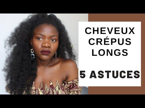 5 astuces pour avoir de longs cheveux crépus naturels ||Pousse du cheveu crépus