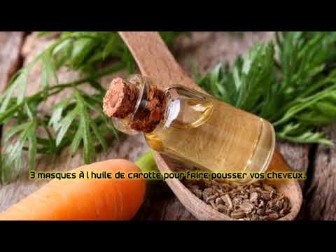 3 masques à l'huile de carotte pour faire pousser vos cheveux.