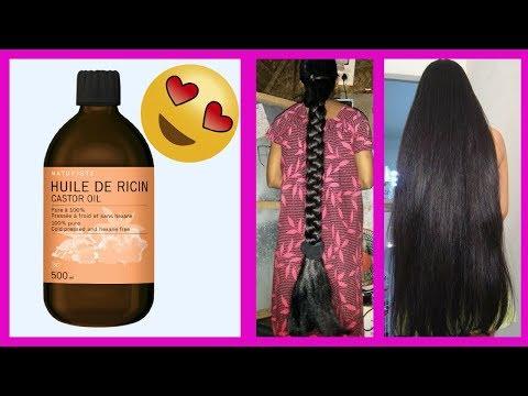 COMMENT appliquer l'huile de RICIN pour faire POUSSER LES CHEVEUX épais et sublimes