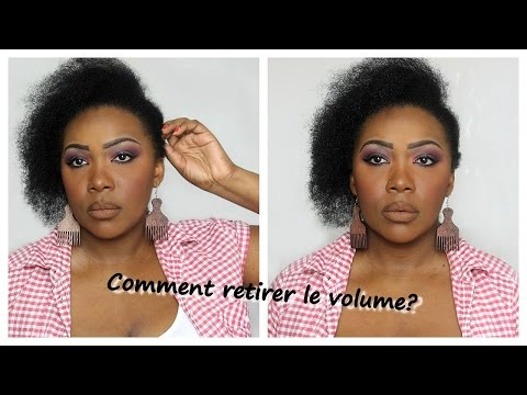 Comment réduire le volume des cheveux épais?