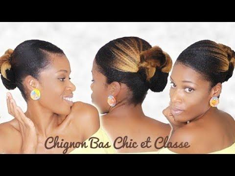 CHIGNON BAS CHEVEUX CRéPUS EPAIS NATURAL HAIR MILIES HAIRSTYLE