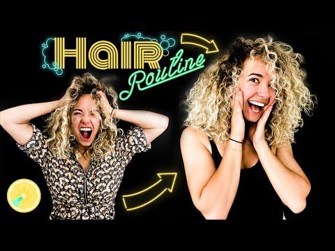 ROUTINE CAPILLAIRE  : cheveux blonds bouclés, épais, décolorés (en 30 Min)