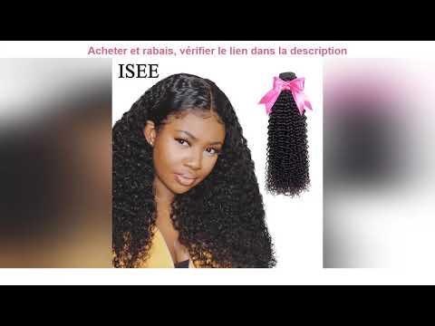 ✔ Mèches mongolie naturelles Remy-ISEE HAIR   Cheveux crépus bouclés, Extensions de épais,..