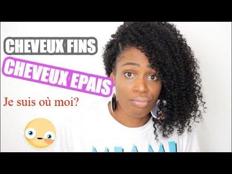 CHEVEUX EPAIS OU FINS??? CREPUS 4A 4B 4C NATURAL HAIR MILIES HAIRSTYLE