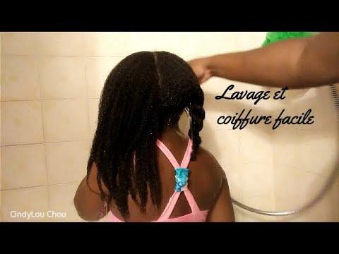 Lavage de cheveux et coiffure simple à faire