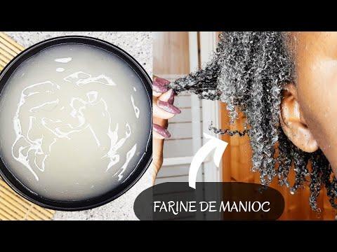 APRÈS SHAMPOING🧖🏾♀️ NATUREL HYDRATANT💦 à base de FARINE DE MANIOC | CHEVEUX CRÉPUS ET FRISÉS ➿💆🏾♀️