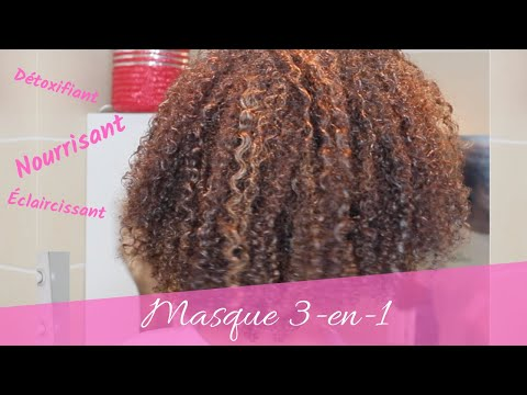 // Soin pour cheveux crépus // Masque détox, dégorgeant, nourissant pour coloration au henné