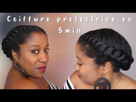 TUTORIEL : Coiffure protectrice pour cheveux crépus en moins de 5 minutes!! #cheveuxcrepus