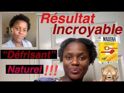 Je teste un défrisant naturel brésilien à la maïzena fait maison!!! 😱 hydratation maximum