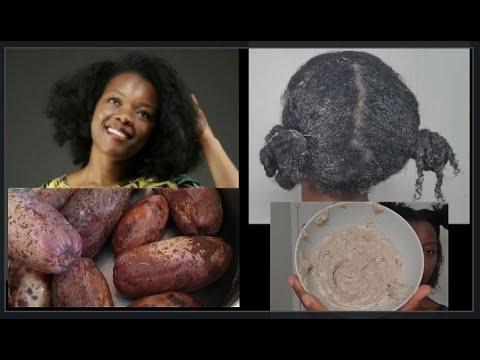 Soin maison à base d'ATANGA/SAFOU pour cheveux crépus ou frisés