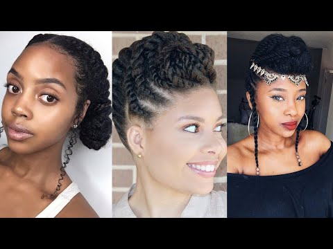 Cheveux crépus & afros : Coiffures protectrice simple rapide  – Quick & easy protective hairstyle