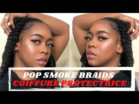 TUTO: COIFFURE PROTECTRICE    POP SMOKE BRAIDS   Shelby bj
