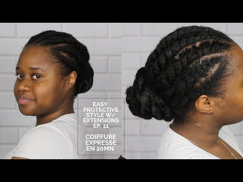 COIFFURE PROTECTRICE  POUR CHEVEUX 4B/4C EPISODE 11 (NATURAL HAIR)