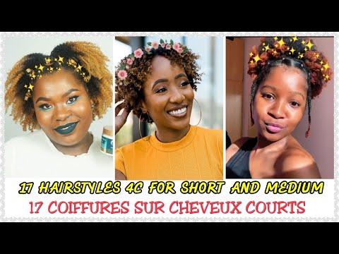(N°39) 💛17 COIFFURES SUR CHEVEUX CREPUS COURT 4C 💛|| 17 HAIRSYLES FOR SHOR NATURAL HAIR