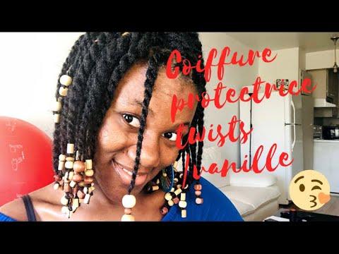 Coiffure protectrice sur cheveux naturel |  twist/ vanille sur cheveux de type 4c | Naturalhairci |