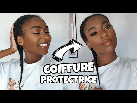 COIFFURE PROTECTRICE SIMPLE ! (SANS NATTES COLLÉES)   PROTECTIVE HAIRSTYLE