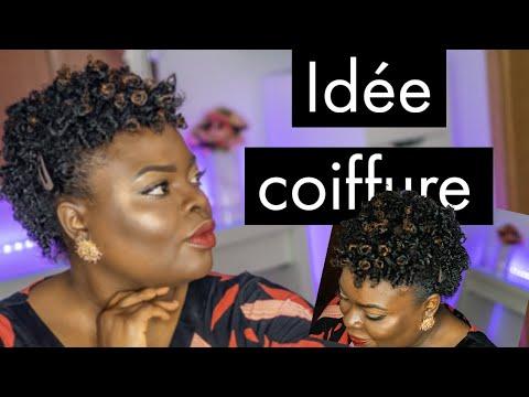 Cheveux crépus court : Coiffure protectrice Bantu Twist out