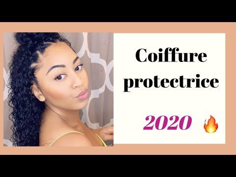 TUTO COIFFURE PROTECTRICE avec des MECHES BOUCLEES