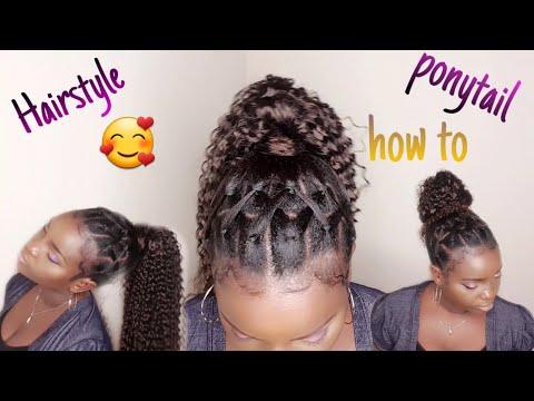 #comment faire une coiffure protectrice soi-même / ponytail / chignon Nys 😊 (07)