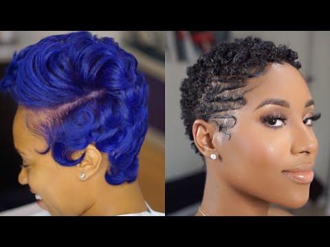 Coiffure et coupe courte pour cheveux crépus court&TWA   2021 Short haircut ideas for black women