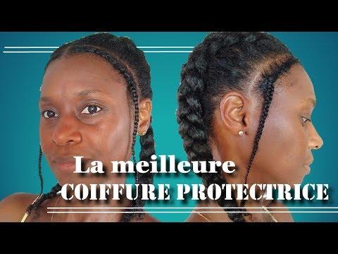 Tuto : 😆Pourquoi c'est la MEILLEURE coiffure protectrice-cheveux crépus 4C,B,A [pousse hydratation]