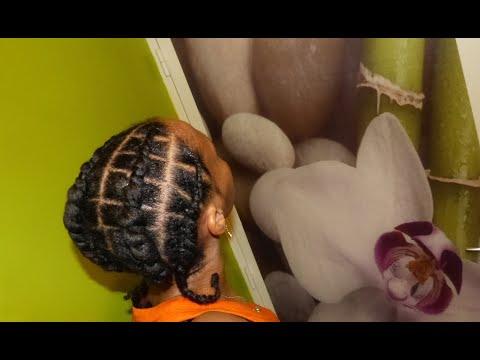 Square x flat twist – Coiffure protectrice pour cheveux crépus