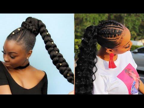 COIFFURE PROTECTRICE POUR CHEVEUX CREPUS ET AFRO Chignons originals – Protective hairstyle 4C Hair