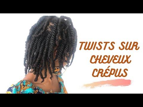 Tuto twist coiffure protectrice cheveux crépus #minitwists #4chair #cheveuxcrépus #protectivestyle