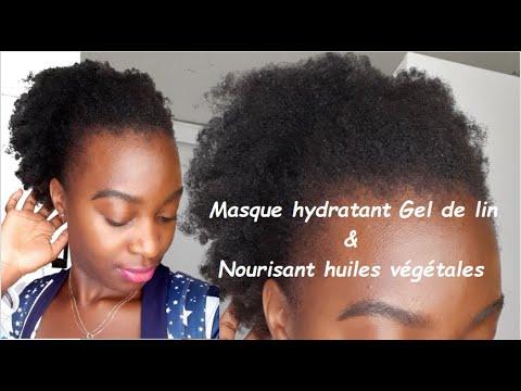 🕊#3.  Hydrater 💦 et Nourrir 🍳 les cheveux avec le Gel de lin  & les huiles végétales💥