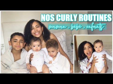 ➿ CURLY ROUTINE FAMILIALE , BÉBÉ, ENFANTS ET MAMAN // GEL DE LIN // CHEVEUX FRISÉS