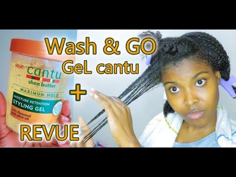 JE TESTE le Nouveau Cantu Moisture Retention Styling Gel| Wash & Go sur Cheveux Crépus| Revue