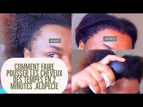 Comment faire pousser les cheveux des tempes en 2 minutes
