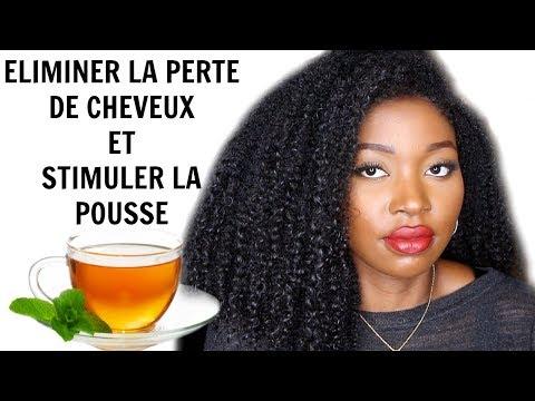 Rinçage au thé pour éliminer la perte de cheveux et stimuler la pousse