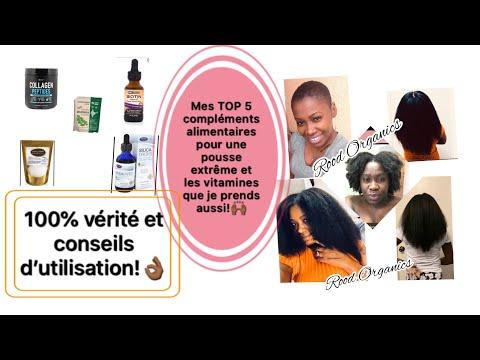 🌿#27. TOP 5 COMPLÉMENTS ALIMENTAIRES ET VITAMINES POUR UNE POUSSE EXTRÊME! #hairsupplements
