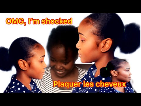 Mieux Plaquer Les Cheveux Crépus 💃🏽{how I flat my frizzy hair?}