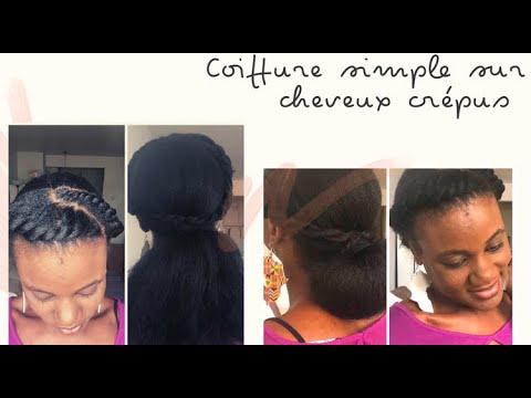 Idée coiffure simple et rapide sur cheveux crepus   4C   hairstyle for naturel hair   naturalhairci