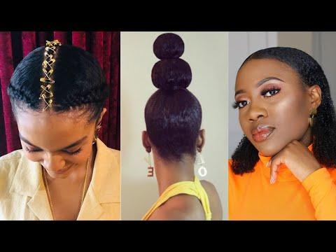 Coiffures tendances sans rajouts pour cheveux crépus et afro ou bouclé   Trendy hairstyles for 2021