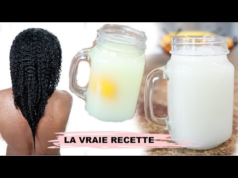 """💧La Vraie Recette """"EAU DE RIZ"""" Pour Cheveux Naturels Crépus💧QUI NE SENT PAS MAUVAIS"""