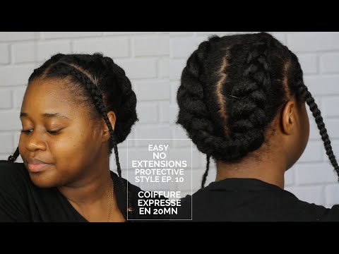 COIFFURE PROTECTRICE  POUR CHEVEUX 4B/4C EPISODE 10 (NATURAL HAIR)