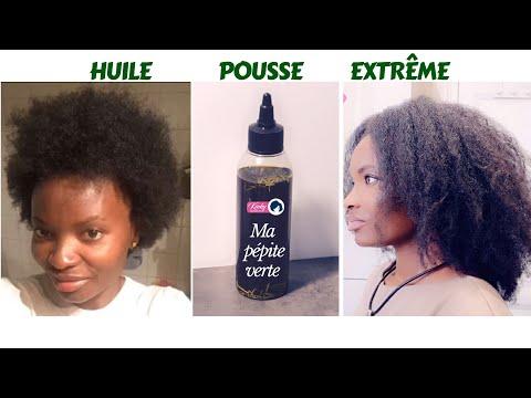 🇨🇮37. HUILE POUSSE EXTRÊME 💚 – Ralentit la chute des cheveux – Ma PÉPITE VERTE 💚 Kinky Hair Beauties