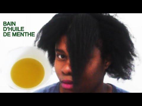 Soins naturel-Bain d'huile de menthe et hibiscus stimule la pousse des cheveux- Mint oil Hair growth
