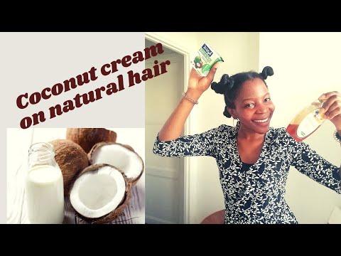 Masque capillaire pour cheveux crépus à la crème de coco