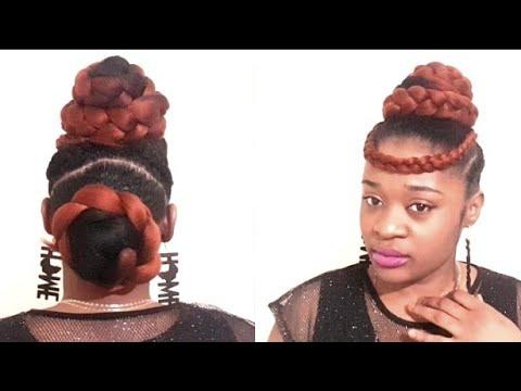 COIFFURE POUR CHEVEUX CREPUS ;une idee coiffure pour ceremonies et fetes