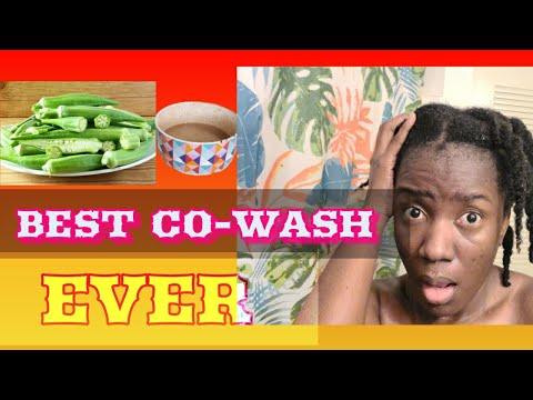 🇭🇹#3 CO-WASH: gel de gombo et la poudre de reetha un soin de pousse excellent.