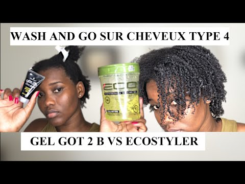 WASH AND GO SUR CHEVEUX CRÉPUS TYPE 4 : GEL GOT 2 B VS ECOSTYLER