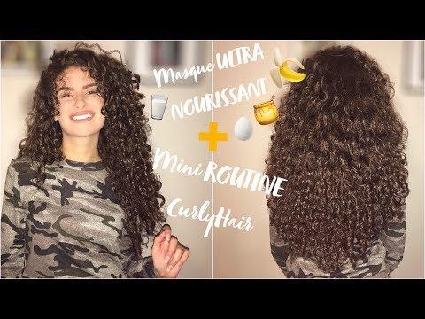 MASQUE MAISON CHEVEUX TRÈS SEC🍯🍌 + MINI ROUTINE CURLY HAIR