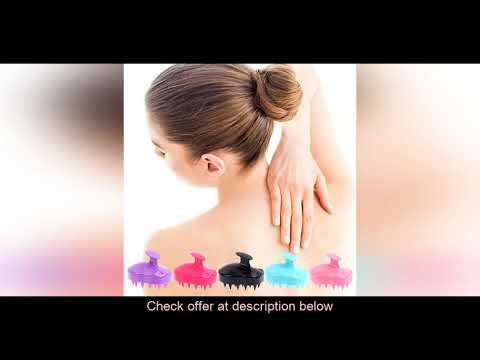 (30%OFF) Acheter Silicone tête corps cuir chevelu Massage brosse peigne shampooing cheveux lavage p
